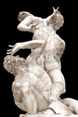 Canvas print  The Rape of the Sabine Women  by Giambologna  Loggia in Piazza della Signoria, Florence, Italy