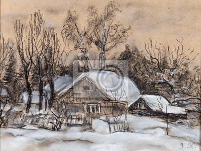 Canvas print The thrown house