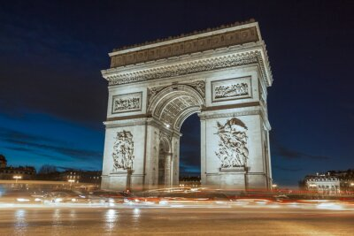Canvas print The Triumphal Arch in evening.