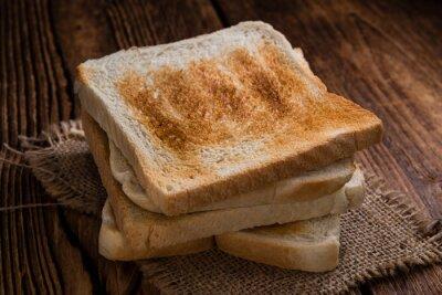 Canvas print Toasted toast bread