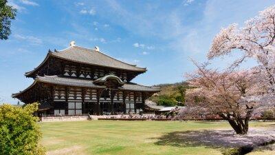 Canvas print Todaiji Temple in sakura season at Nara, Japan