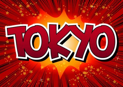Canvas print Tokyo - Comic book style word.
