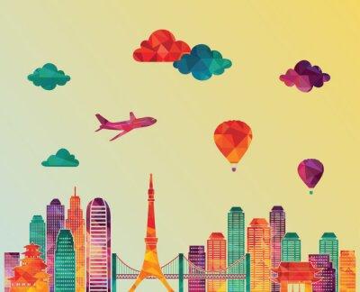 Canvas print  Tokyo skyline. Vector illustration