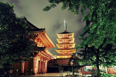 Canvas print Tokyo temple