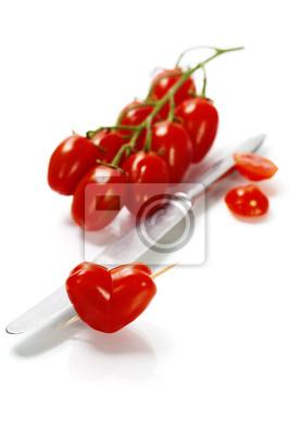 Canvas print tomato heart
