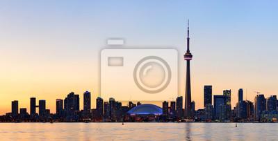 Toronto silhouette panorama