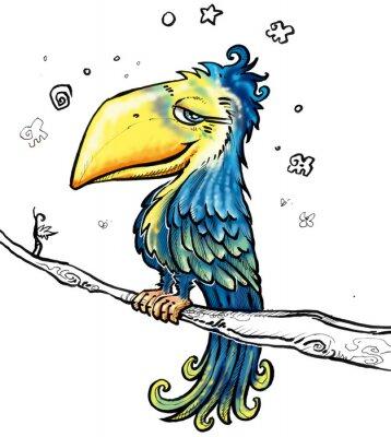 Canvas print toucan cartoon