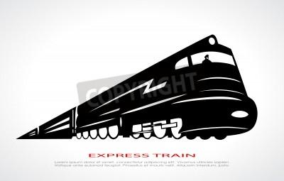 Canvas print Train icon