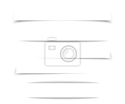 Canvas print Transparent realistic paper shadow