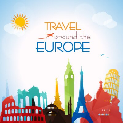 Canvas print Travel around the Europe