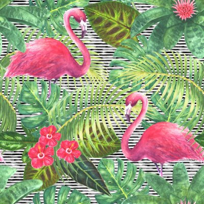 Canvas print Trendy exotic seamless pattern