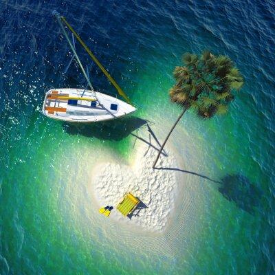 Canvas print Tropical paradise on a small island