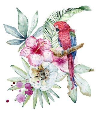 Canvas print Tropical watercolor illustration