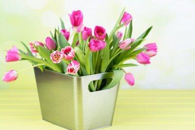 Canvas print tulpenstrauß in der vase