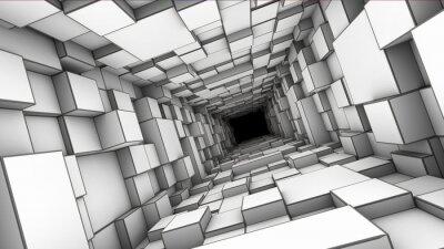 Canvas print tunnel