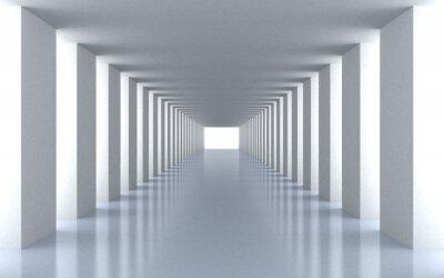 Canvas print Tunnel white light