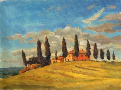 Canvas print Tuscany