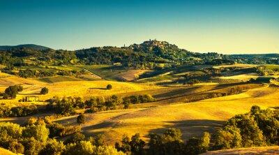 Canvas print Tuscany summer, Montepulciano medieval village. Siena, Italy