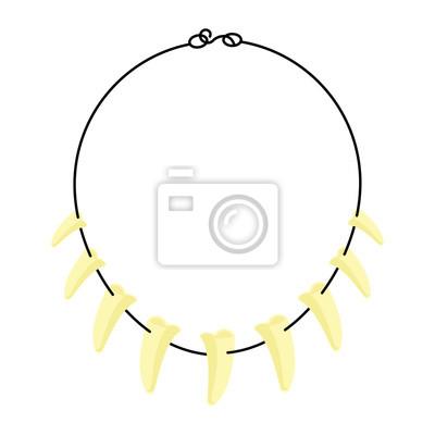 Canvas print Tusk necklace vector