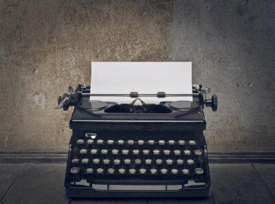 Canvas print typewriter