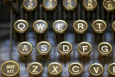Canvas print typewriter/keys