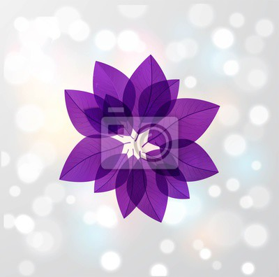 Ultra violet purple leaves in circle on white glowing background. Color of the year 2018