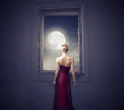 Canvas print Under the moonlight