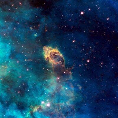 Canvas print Universe filled with stellar jet, stars, nebula and galaxy.