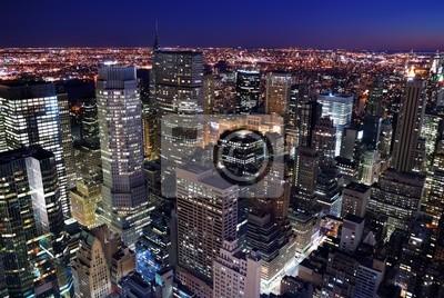 Canvas print Urban city skyline aerial view