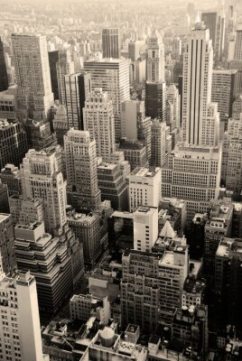 Urban skyscrapers, New York City