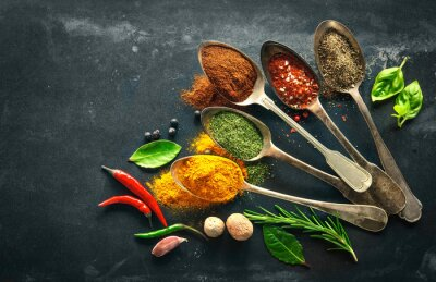 Canvas print Various herbs and spices