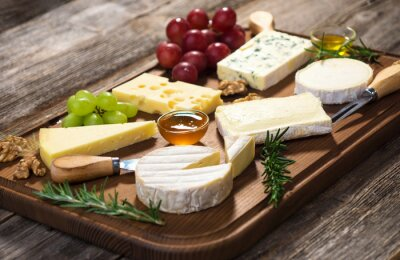 Canvas print Various types of cheese