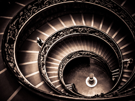 Vatican City - Vatican Museums-Spiraling Exit Staircase