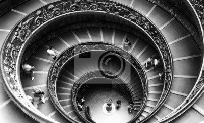 Canvas print Vatican Museum staircase