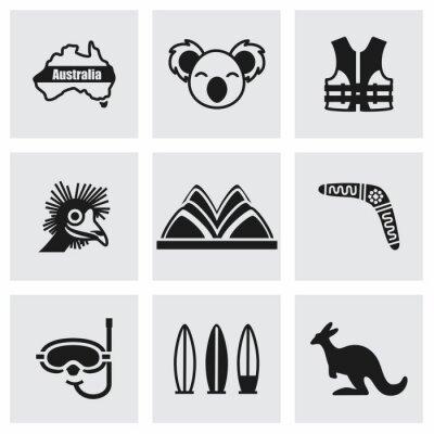 Canvas print Vector Australia icon set
