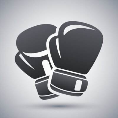 Canvas print Vector boxing gloves icon