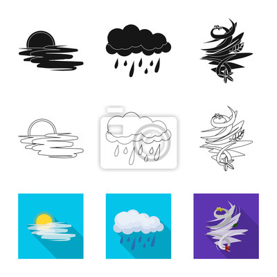 Vector illustration of weather and weather symbol. Set of weather and application vector icon for stock.