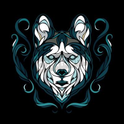 Canvas print Vector image of a dog siberian husky