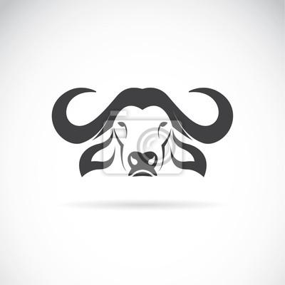 Vector image of an buffalo head