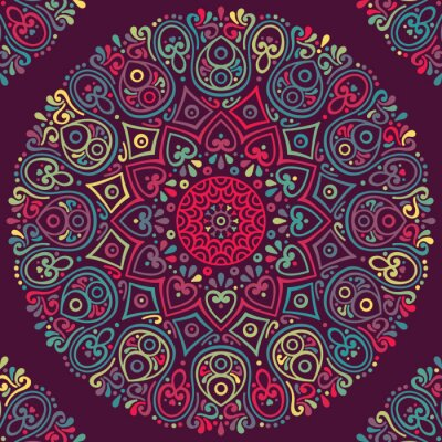 Canvas print Vector indian Mandala