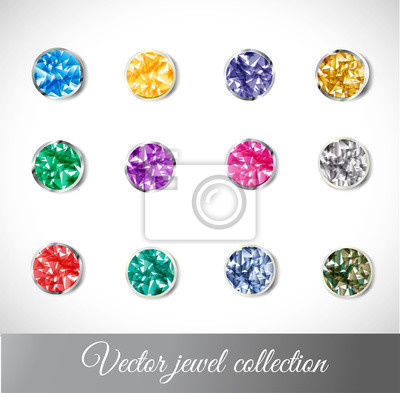 Canvas print Vector jewel collection