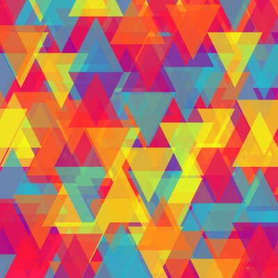 Canvas print Vector of abstract triangle background