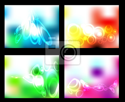 Vector set abstract background. texture and color circle