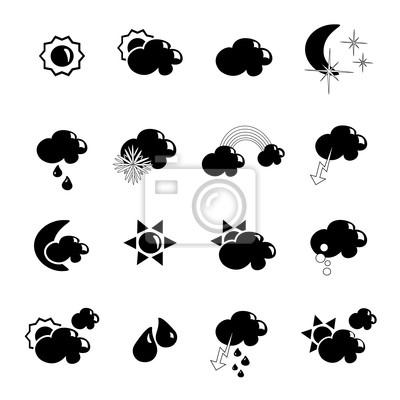Vector set of weather symbols