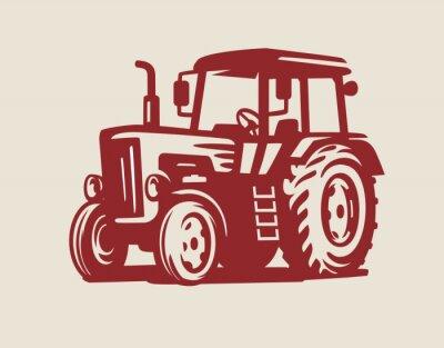 Canvas print vector Tractor symbol