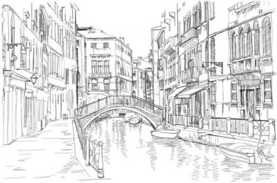 Canvas print Venice - Fondamenta Rio Marin