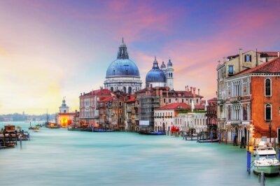 Canvas print Venice - Grand Canal and Basilica Santa Maria della Salute