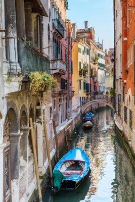 Canvas print Venice. Urban canal