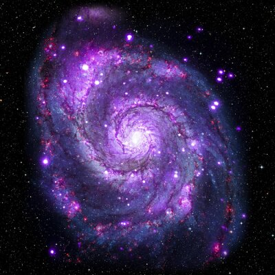 Canvas print View image of Galaxy system isolated Elements of this image furnished by NASA
