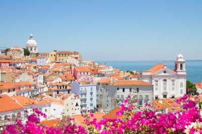 Canvas print view of Alfama, Lisbon, Portugal